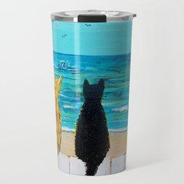 Seaside Cats Travel Mug