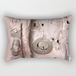 Pink Rusty Door Rectangular Pillow