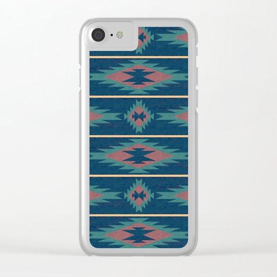 Native Spirit Pattern Clear iPhone Case