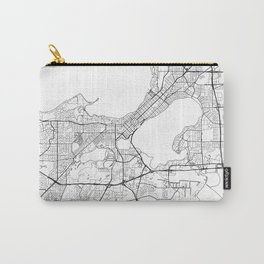Madison Map White Carry-All Pouch