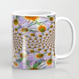 Tiled Blue Daisy Fractal Coffee Mug