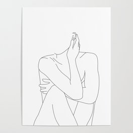 Nude life drawing figure - Celina Poster