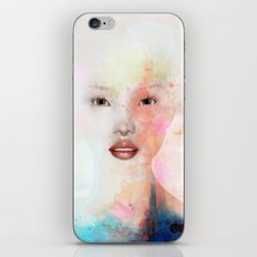 Woman abstract face iPhone & iPod Skin