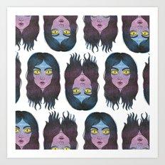 Reptile Girl Art Print