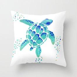 Neptune's Turtle Throw Pillow