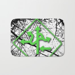 Arrows - Green Bath Mat