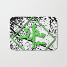 Arrows - Green Bath Mat