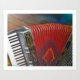 Squeezebox Memories Art Print