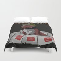 pitbull Duvet Covers featuring Pitbull Warfare by dr.Mador