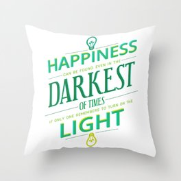 Happiness can be found... Throw Pillow