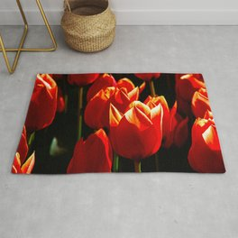 Decorative Red Tulips Rug