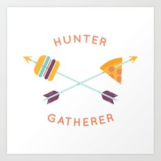 Hunter Gatherer Art Print