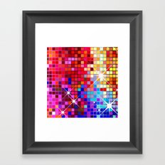 Sparkling Mosaic Framed Art Print