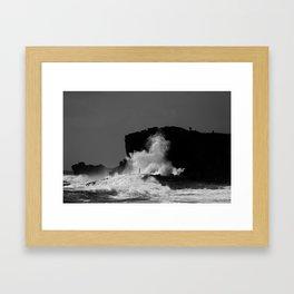 Halona Blowhole Framed Art Print