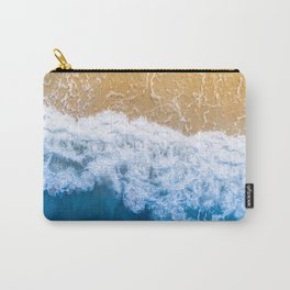 Ocean blue sand brown Carry-All Pouch