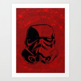 Stormtrooper Deco Digital Print Art Print