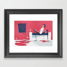 Handwriting on the Wall (by Glenn Thomas) Framed Art Print