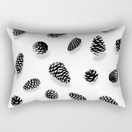 PINE CONE BLACK AND WHITE Rectangular Pillow