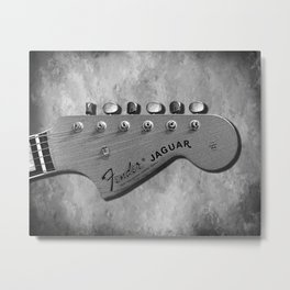 Jaguar Headstock Metal Print