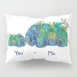 You + Me Succulent Elephants Pillow Sham