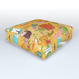 Tropical Libations Outdoor Floor Cushion