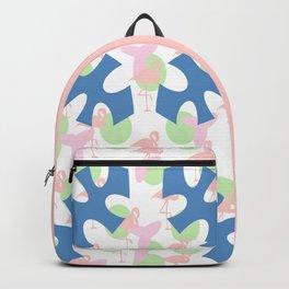 Flamingo blues motif Backpack