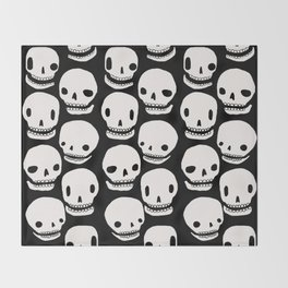 Skull Print Throw Blanket