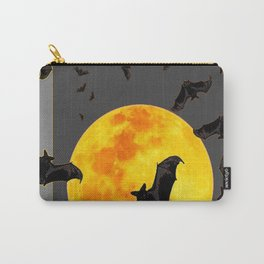 GREY HALLOWEEN BAT MIGRATION TO  MOON ART Carry-All Pouch