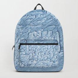 Light steel blue blurred wash drawing Backpack