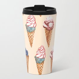 Lot of Ice cream nude pattern Travel Mug