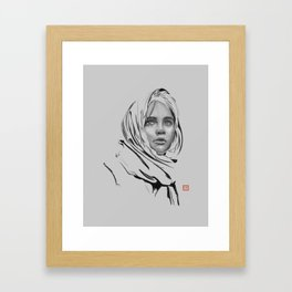 Jyn Erso: sketch-painting Framed Art Print