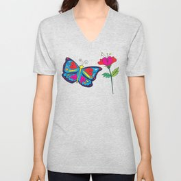 Love like a butterfly Unisex V-Neck