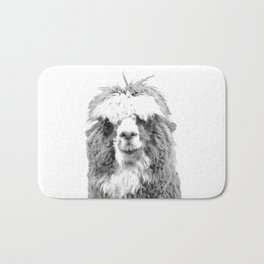 Black and White Alpaca Bath Mat