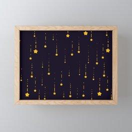 shooting stars Framed Mini Art Print