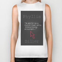 Phyllis Diller quote Biker Tank