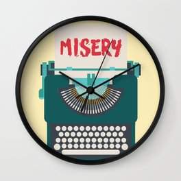 Misery, Horror, Movie Illustration, Stephen King, Kathy Bates, Rob Reiner, Classic book, cover Wall Clock