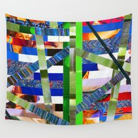 agnes Wall Tapestries featuring Agnes (stripes 16) by Wayne Edson Bryan