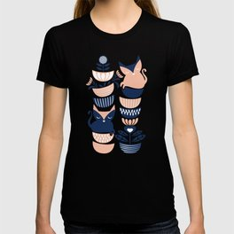 Swedish folk cats V // flesh background T-shirt