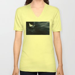 On troubled waters Unisex V-Neck