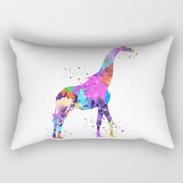 Watercolor Giraffe Rectangular Pillow