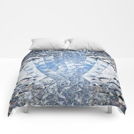 Blue water in crystals Comforters