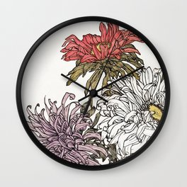Flower print - Jule De Graag Wall Clock