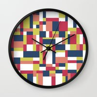 matisse Wall Clocks featuring Map Matisse #1 by Project M