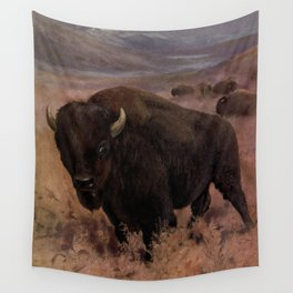 Vintage American Buffalo Painting (1909) Wall Tapestry
