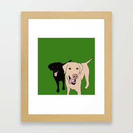 Tanner and Lily Best Labrador Buddies Framed Art Print