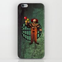 pennywise iPhone & iPod Skins featuring Pennywise by Monsterinbox
