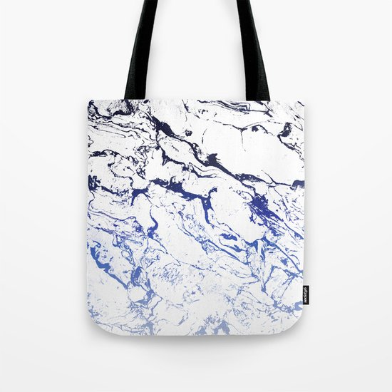 Modern white marble blue ombre navy blue watercolor gradient fade by girlytrend