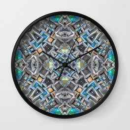 Colorful Geometric Structure Wall Clock