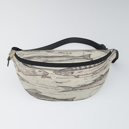 father's day fisherman gifts whitewashed wood lakehouse freshwater fish Fanny Pack