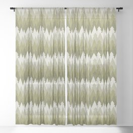 Layered Green Forest Sheer Curtain